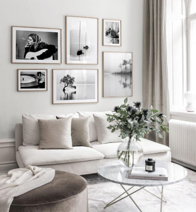 cuadros sofa salón